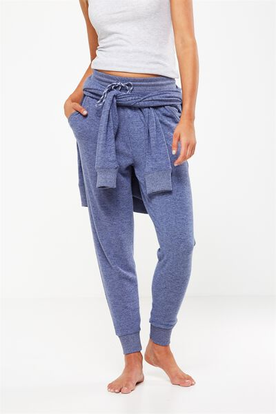Super Soft Slim Fit Pant, FROSTED BLUE MARLE