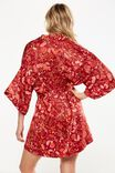 Kimono Robe, ORNATE HARVEST REDWOOD