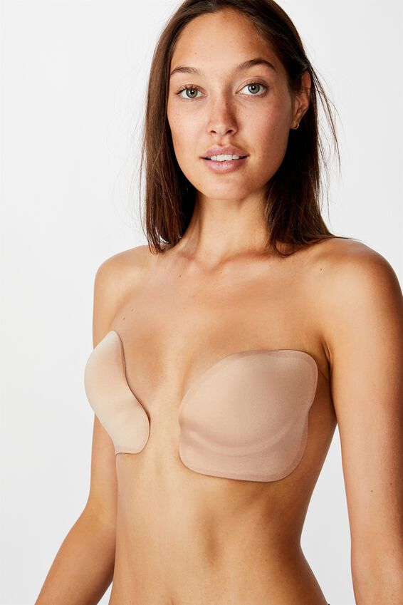 Plunge Stick On Bra, NUDE