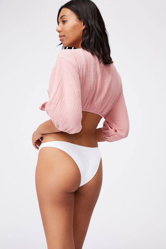 Knot Front Cropped Beach Shirt, PINK ALMOND