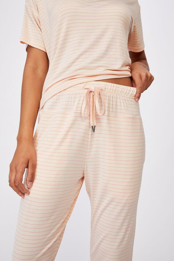 Sleep Recovery Pant, SLENDER STRIPE BUTTERMILK