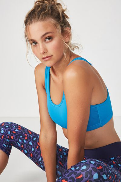 Workout Cardio Crop, BLUE JEWEL