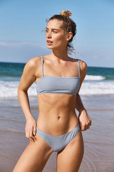 Classic Full Bikini Bottom, MARINA BLUE GINGHAM