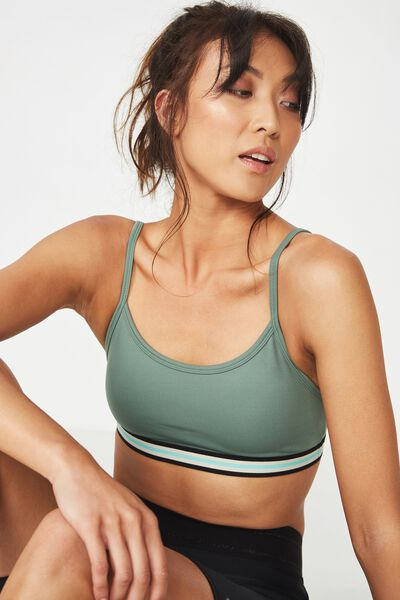 Workout Yoga Crop, FERN GREEN