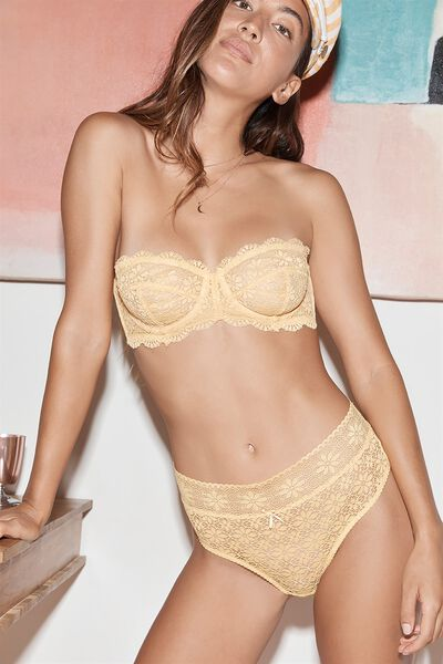 Jojo Unlined Strapless Bra, SUNSHINE YELLOW