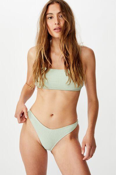 High Side Brazilian Bikini Bottom, SAGE CRINKLE