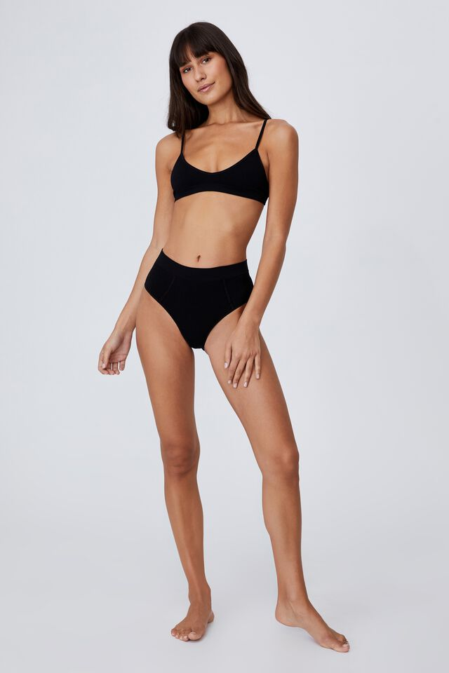 Seamfree Mumdie Bikini Brief, BLACK