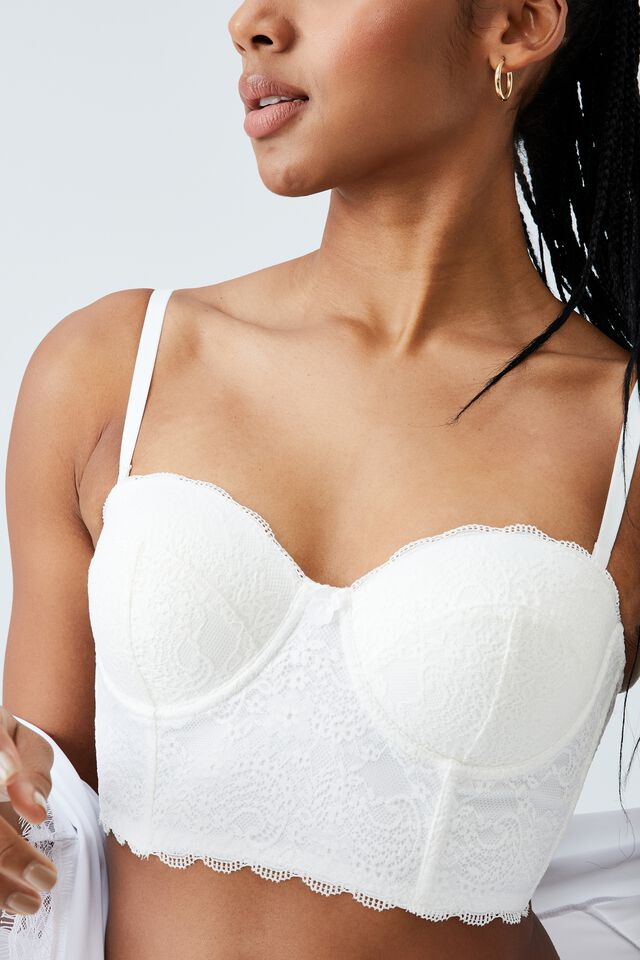 Ultimate Comfort Lace Push Up Bustier, CREAM