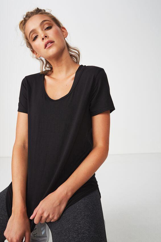 Gym T Shirt, BLACK