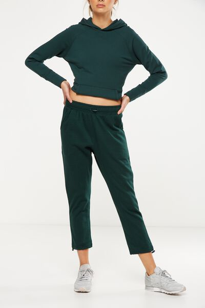 Toggle Track Pant, HUNTER GREEN