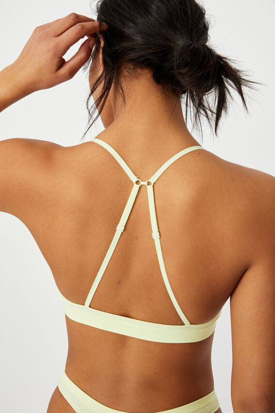 Seamless Triangle Bralette, LEMONADE