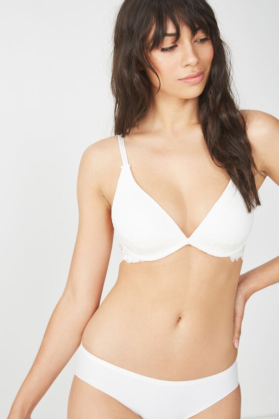 Maddie Smooth Wirefree Bra, CREAM