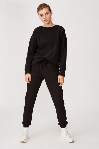Gym Track Pants, BLACK