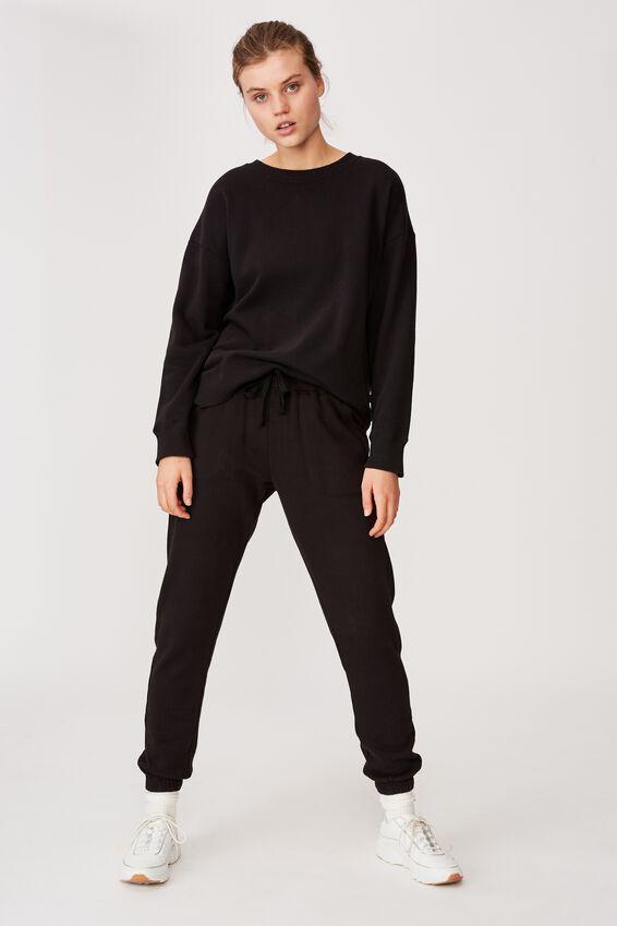 Gym Track Pants, BLACK