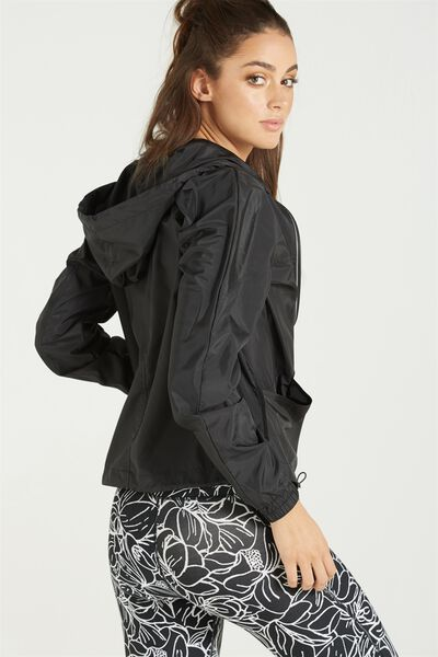 Transparent Lightweight Jacket, BLACK