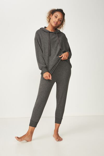 Super Soft Cropped Slim Fit Pant, ASPHALT MARLE