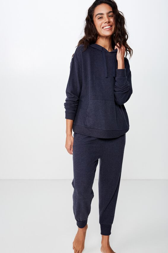 Supersoft Lounge Hoodie, NAVY BABY MARLE