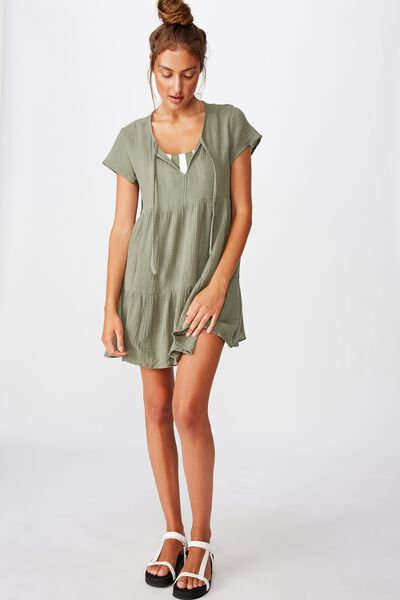 Babydoll Beach Dress, COOL AVOCADO