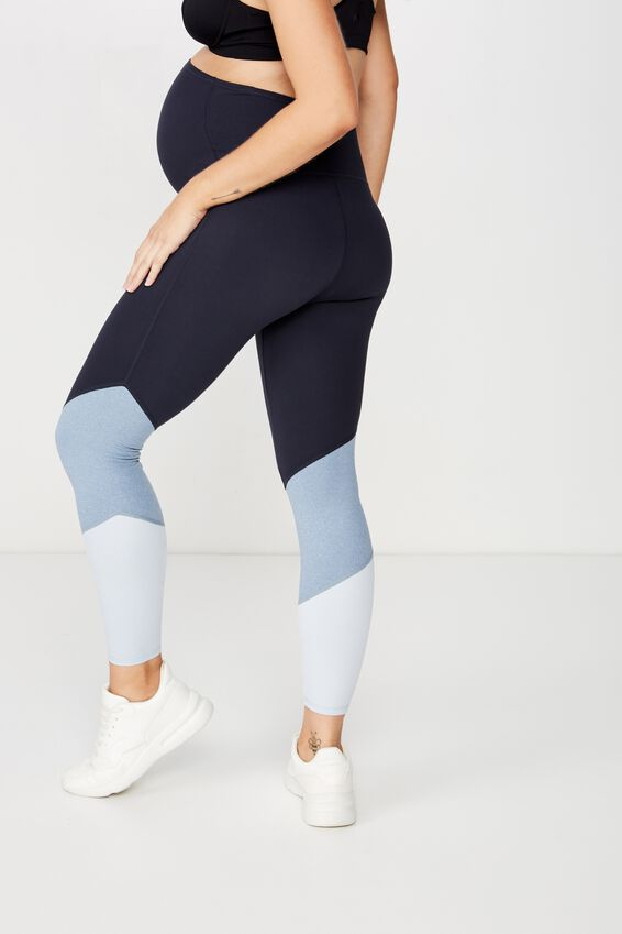 Maternity So Soft Marle 7/8 Tight, FROSTED BLUE MARLE