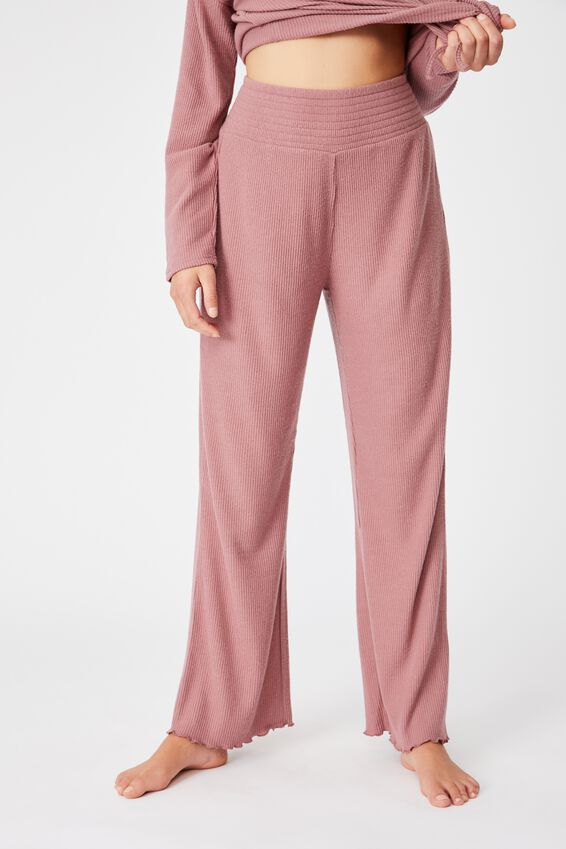 Super Soft Relaxed Pant, MOCHA MOUSSE MARLE RIB
