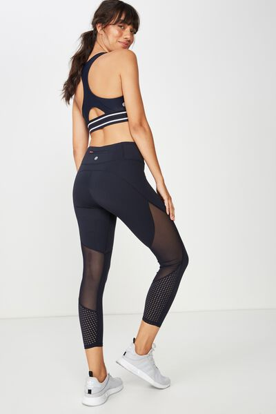 Movement Mesh Panelled 7/8 Tight, NAVY