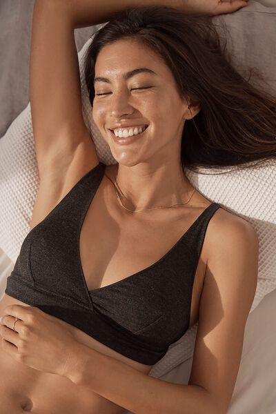 Sleep Recovery Bralette, BLACK MARLE