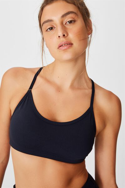 Workout Yoga Crop, NAVY