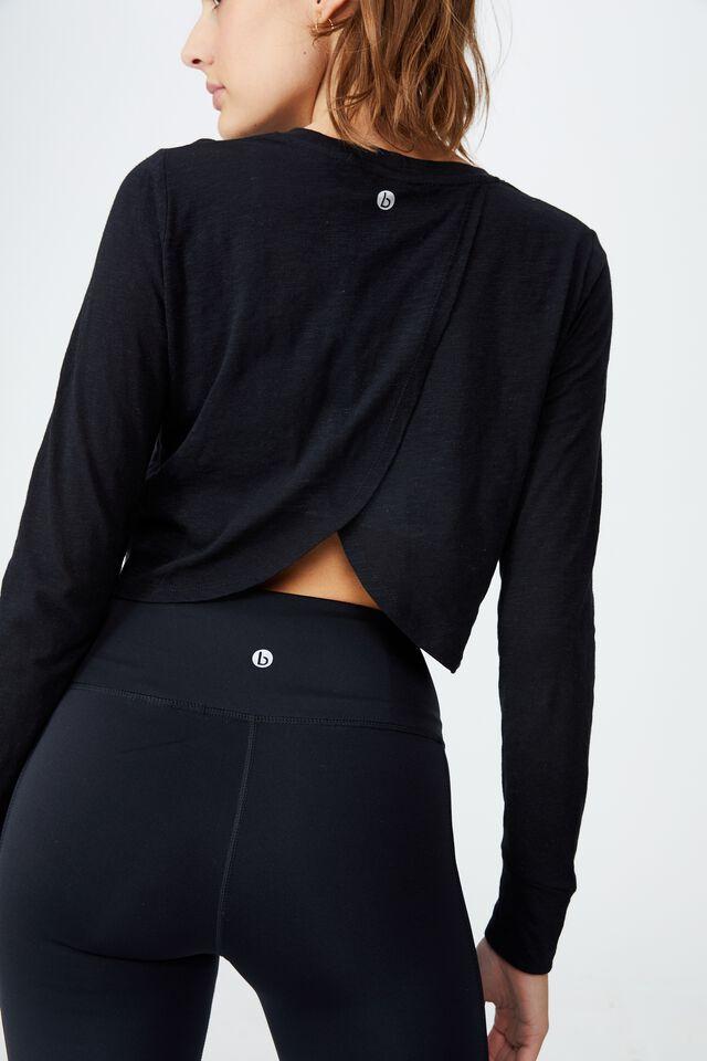 Lifestyle Long Sleeve Top, BLACK
