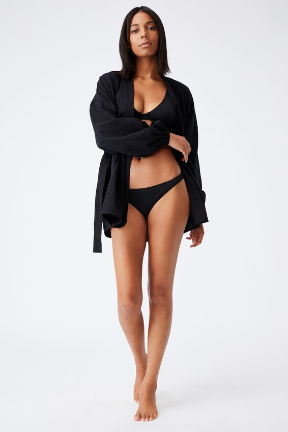 Beach Cover Up, BLACK