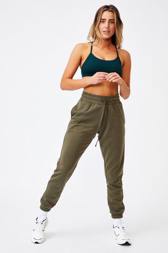 Workout Yoga Crop, JUNE BUG RIB