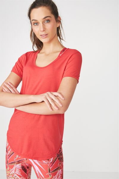Gym T Shirt, SPICY RED