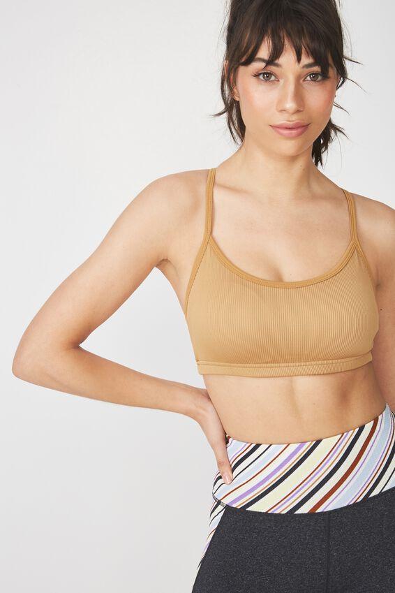 Workout Yoga Crop, GOLDEN CHAI RIB