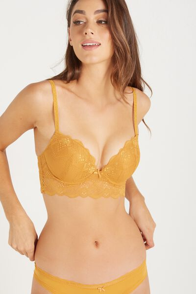 Cindy Up 2 Push Up Crop Bra, GOLDEN GLOW