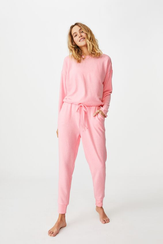 Super Soft Draw Cord Crew, STRAWBERRY MILKSHAKE MARLE