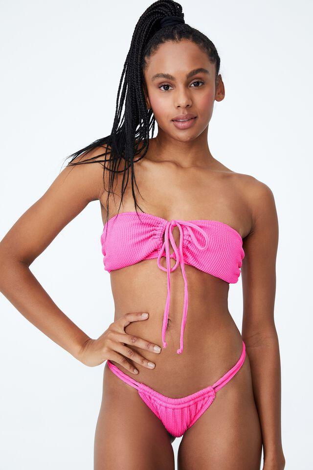 Floss Bikini Top, AURORA PINK CRINKLE
