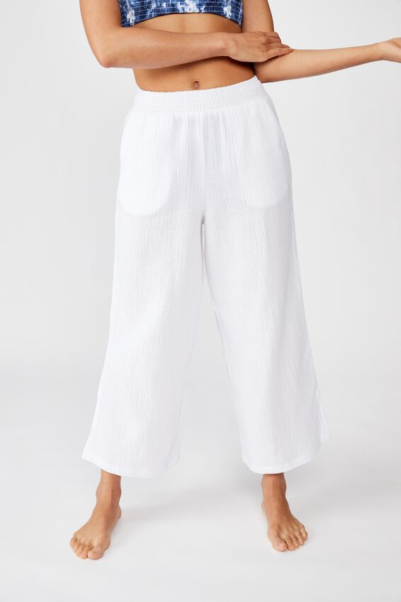 Swim Beach Pant, WHITE