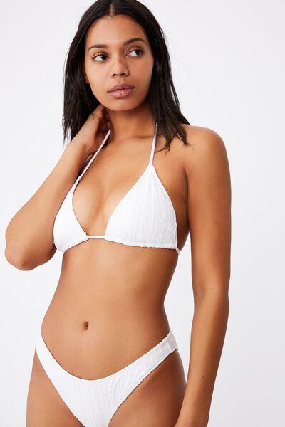 Slider Triangle Bikini Top, WHITE BROIDERIE