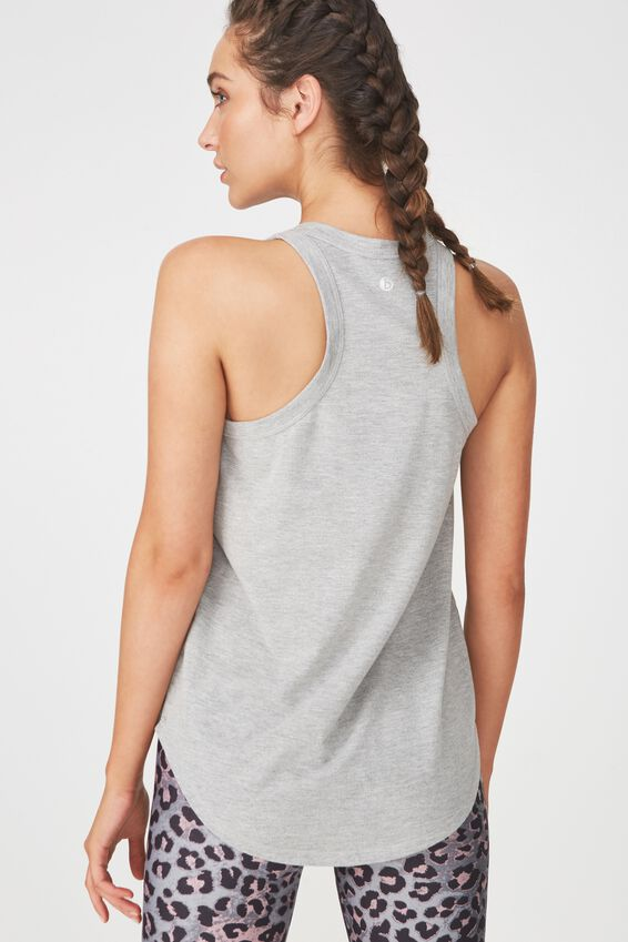 Workout Tank Top, MID GREY MARLE