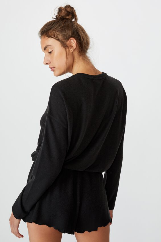 Super Soft Relaxed Short, WASHED BLACK MARLE