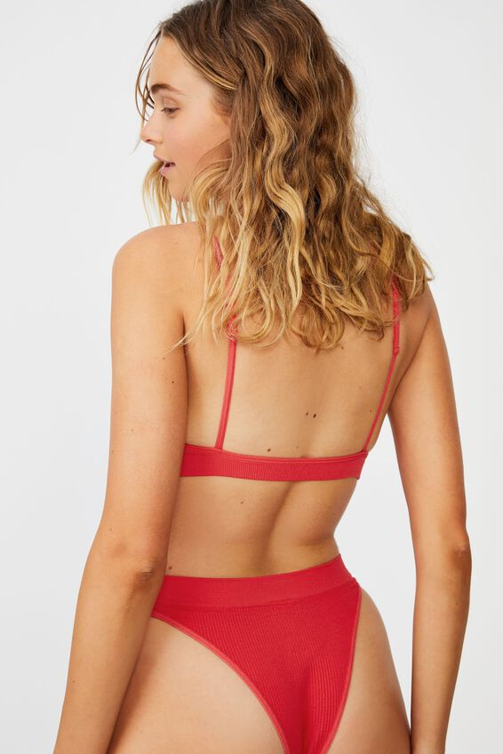 Seamfree Triangle Bralette, FIESTA RED