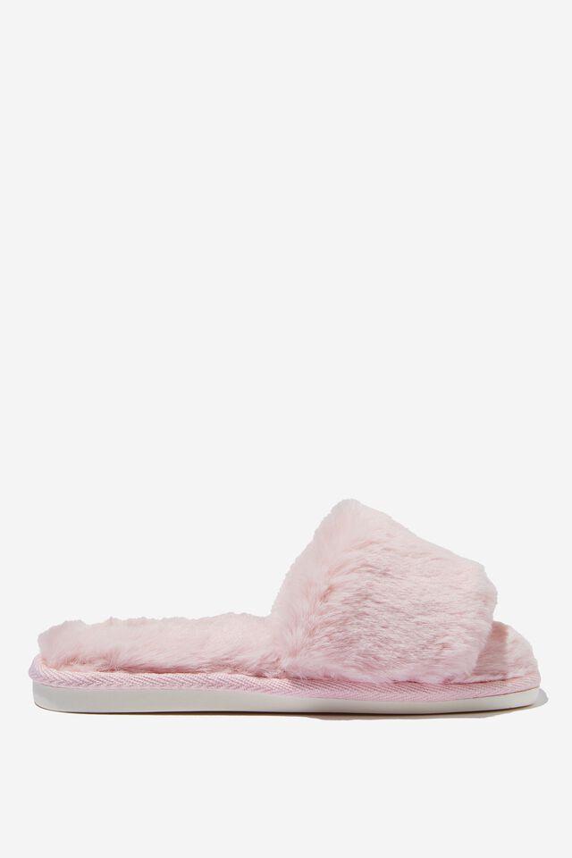 Square Toe Slide Slipper, BALLERINA PINK