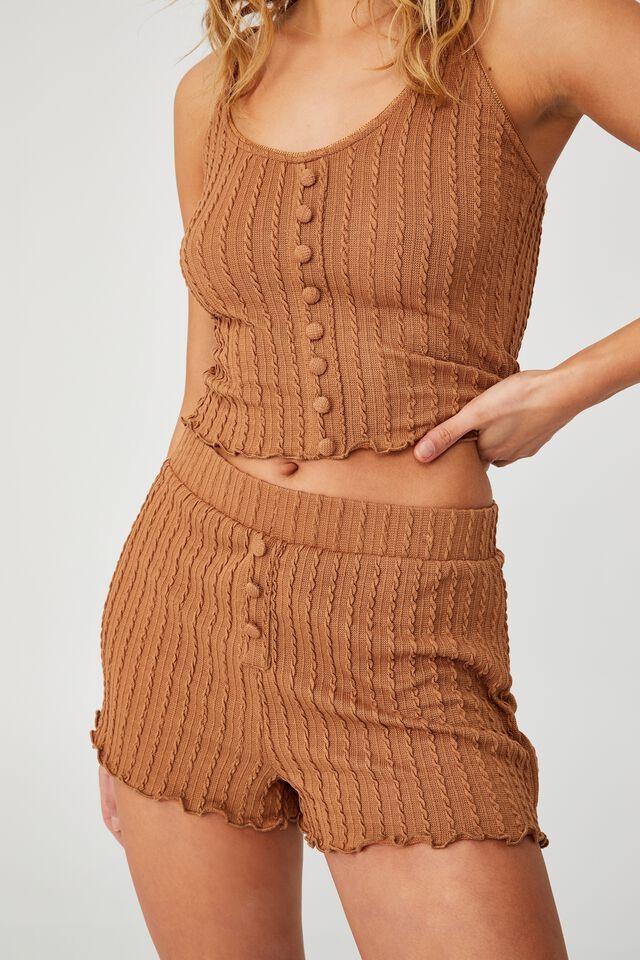 Knit Bed Short, CASHEW