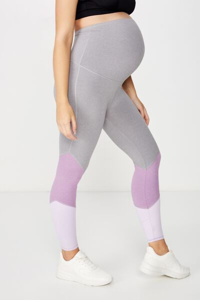 Maternity So Soft Marle 7/8 Tight, PURPLE DOVE MARLE