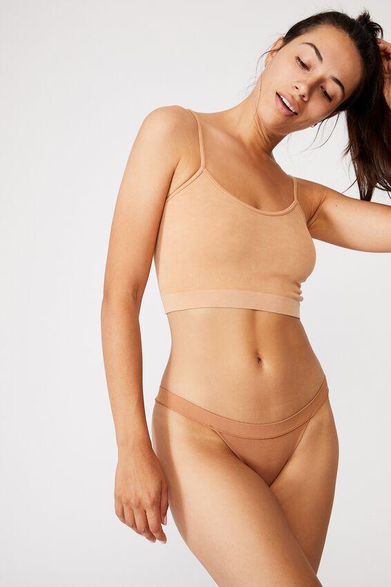 Seamfree Tanga Bikini, CASHEW