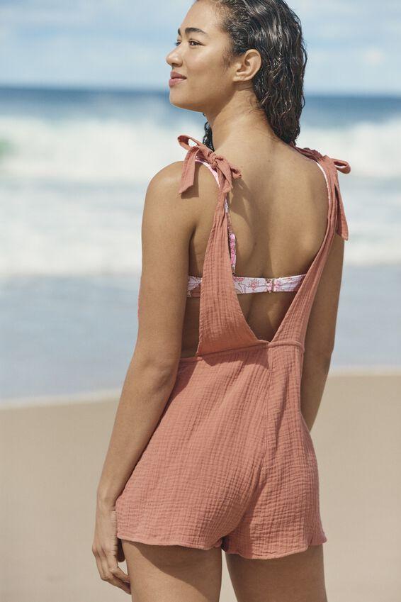 Beach Playsuit, TERRACOTTA