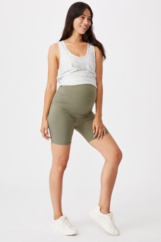 Maternity Bike Short, CORE STEELY SHADOW