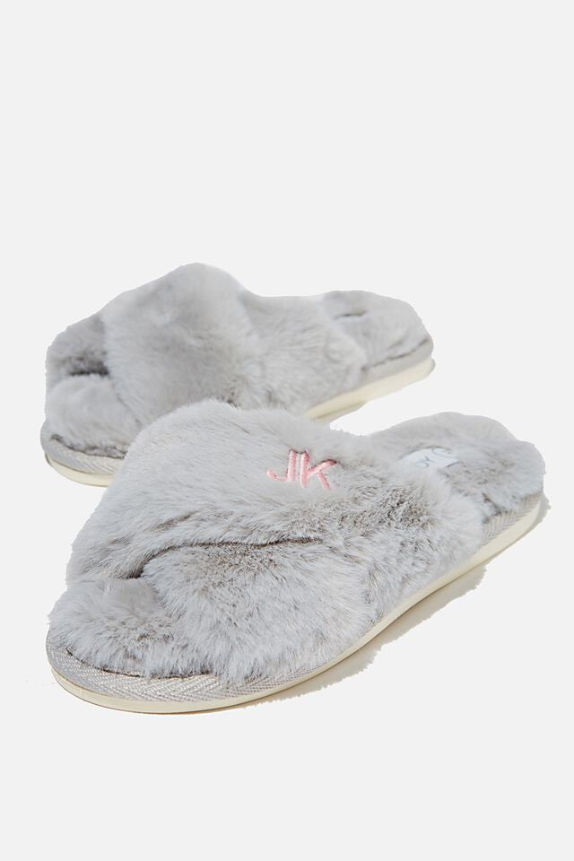 Duo Crossover Slipper Personalised, GREY