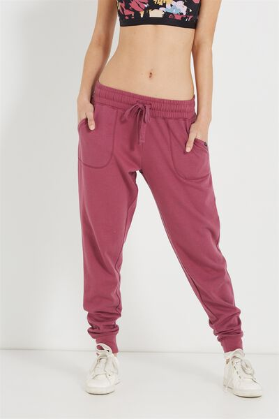 Gym Track Pants, WILD ROSE MARLE