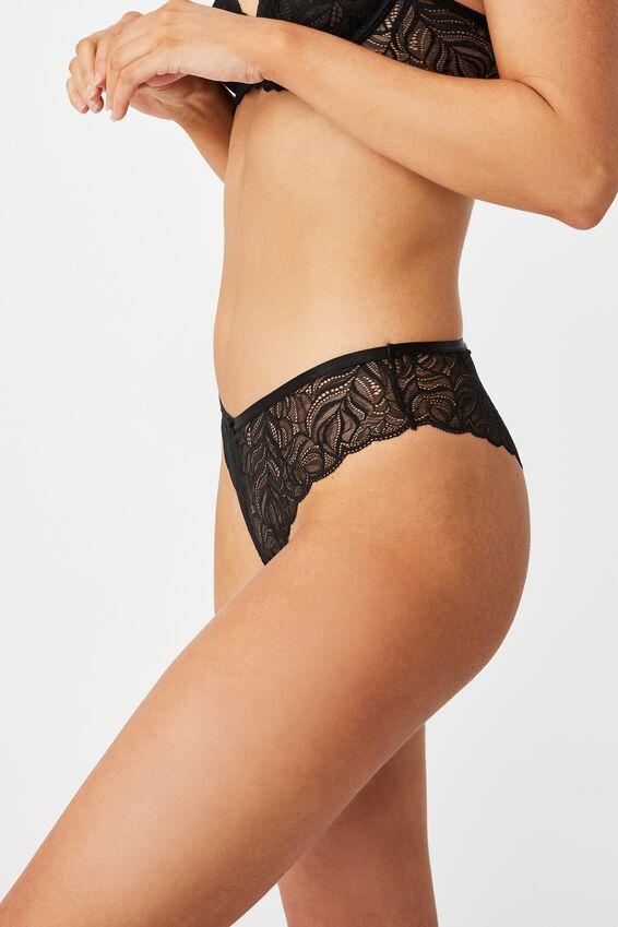 Summer Lace Brasiliano Brief 3 Pack, BLACK/ CREAM/ BLACK