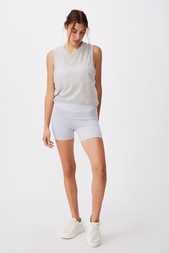 All Things Fabulous Cropped Muscle Tank, GREY MARLE